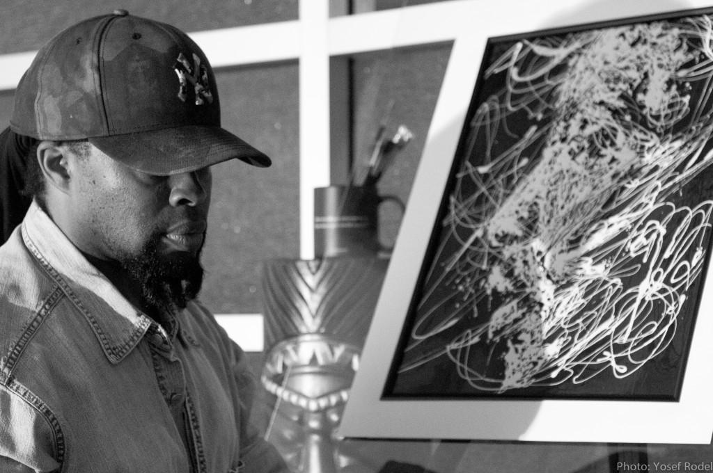 Artist T.M.NOEL ANGRYHOUZE MLK PORTRAIT drip art style ART is LIFE fine art DESIGN